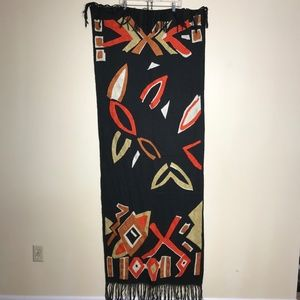 Black and orange scarf